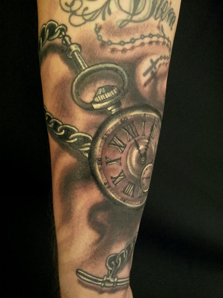 Grey gallery rob 39 s tattoo studio bradford west yorkshire for Pocket watches tattoos